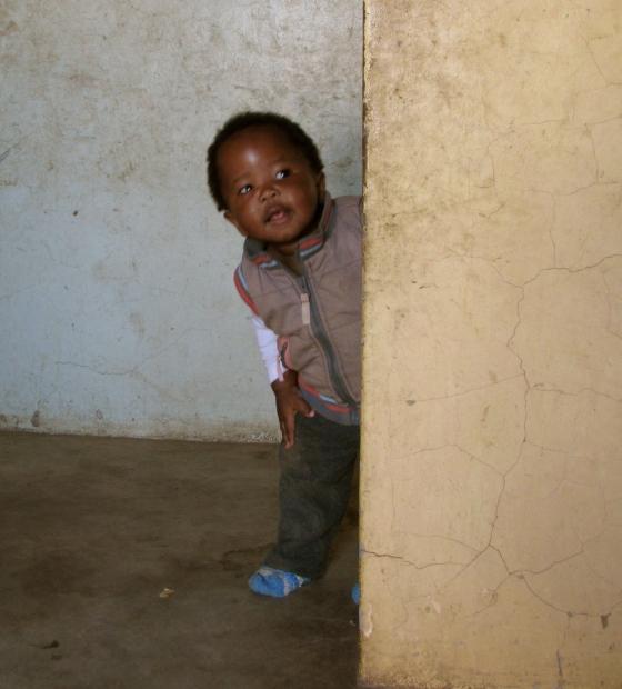 One of Mama Palesa's grandchildren